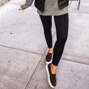 Wanted Black Vegan Leather LowTop Fashion Sneakers